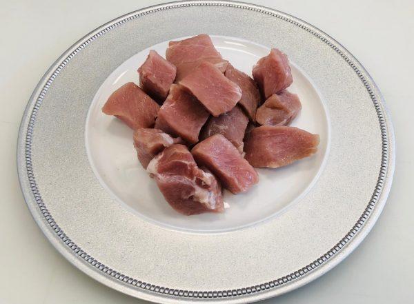 polpa di maiale a pezzi
